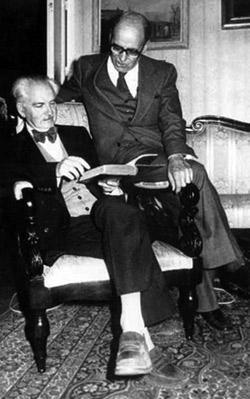 Antonio Tovar junto a Caro Baroja