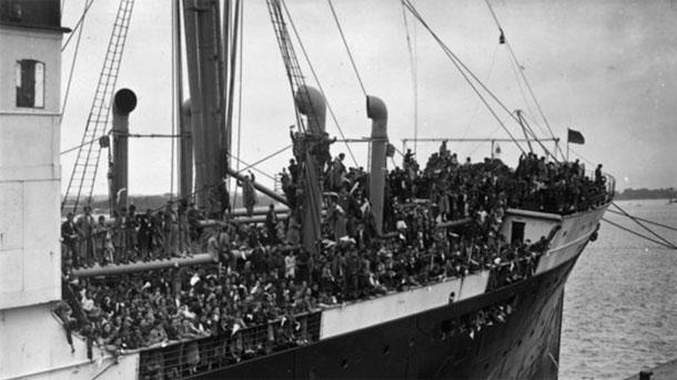 Refugiados a bordo del SS Habana
