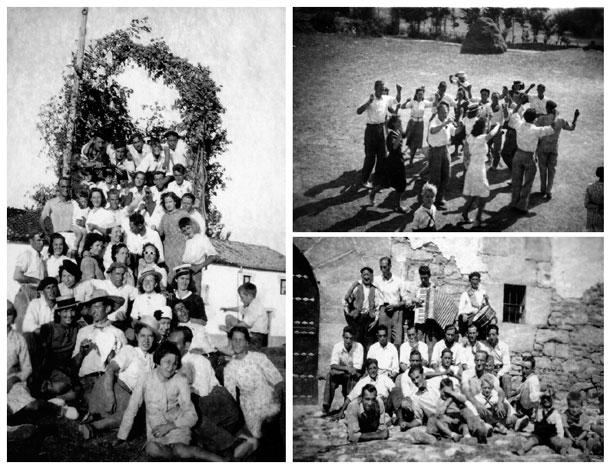 Juventud del pueblo y alrededores en fiestas de Zizur Menor