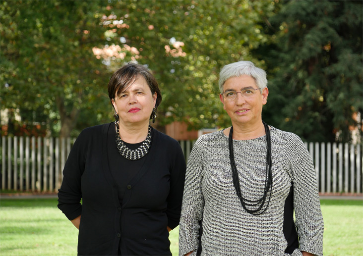 Mertxe Larrañaga y Yolanda Jubeto